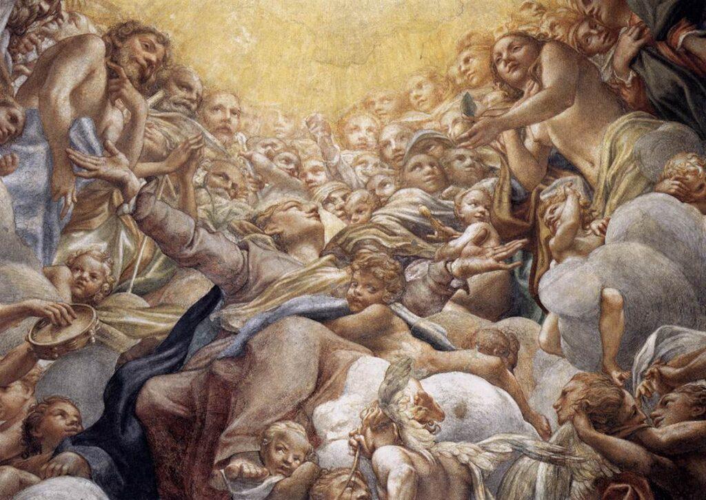 Correggio – Tenhemelopneming van Maria (detail)