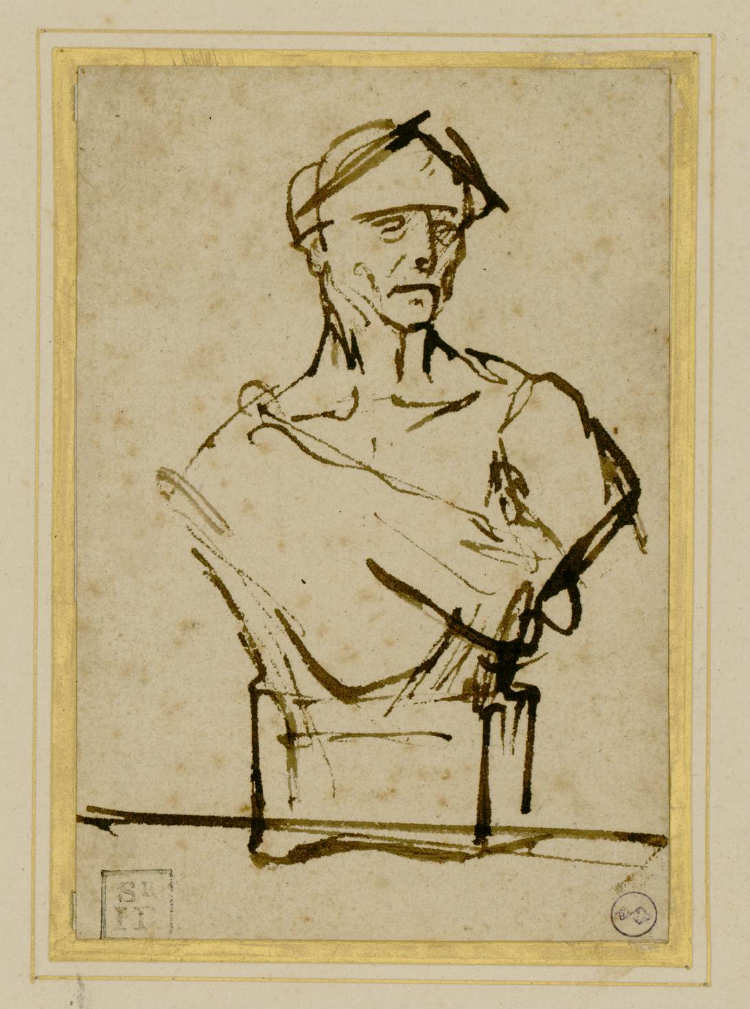 Rembrandt van Rijn, Busto di imperatore, Biblioteca Reale Turijn