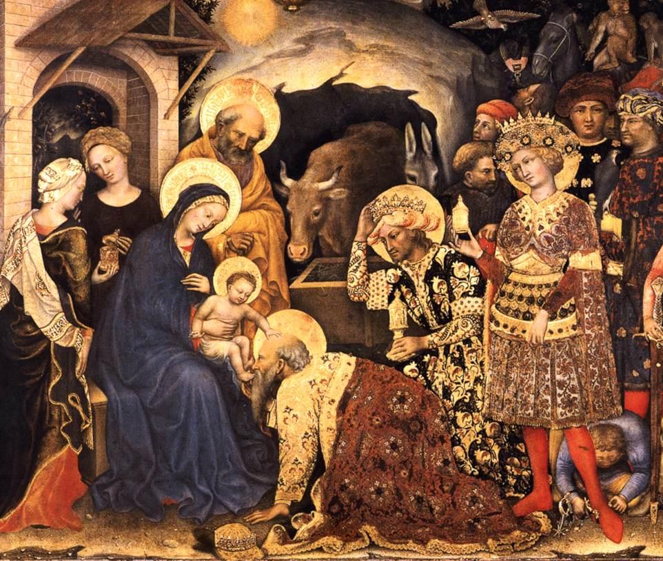 Aanbidding-der-Wijzen-Gentile-da-Fabriano-detail