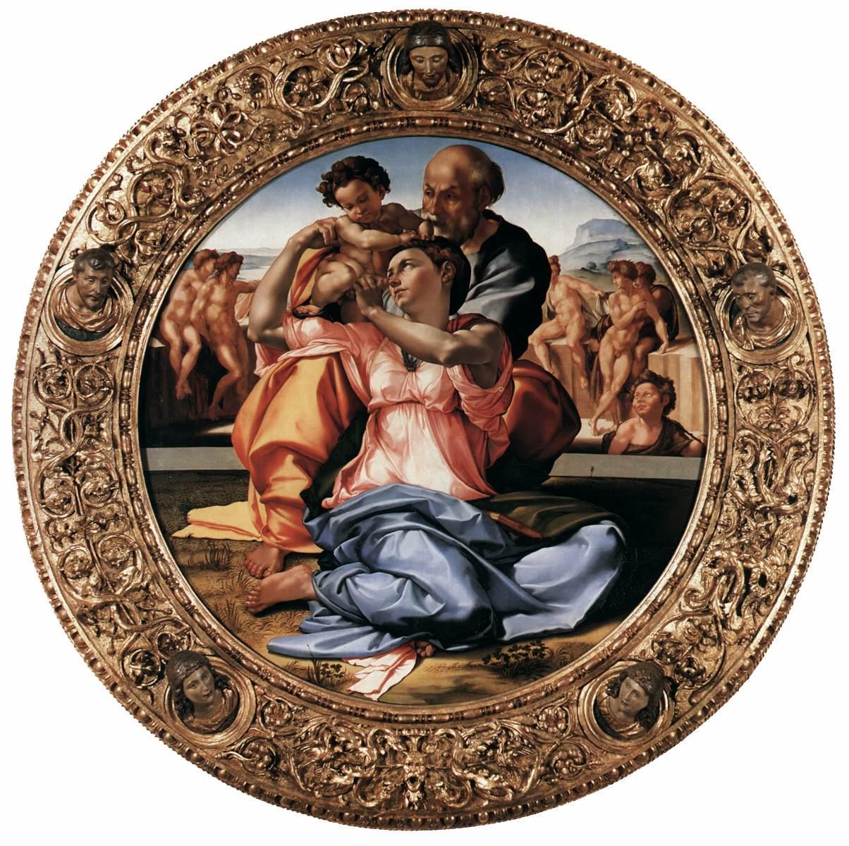 Michelangelo, Doni Tondo, Uffizi Florence