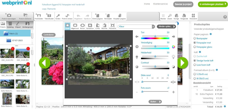 Een fotoboek ontwerpen met Webprint.nl