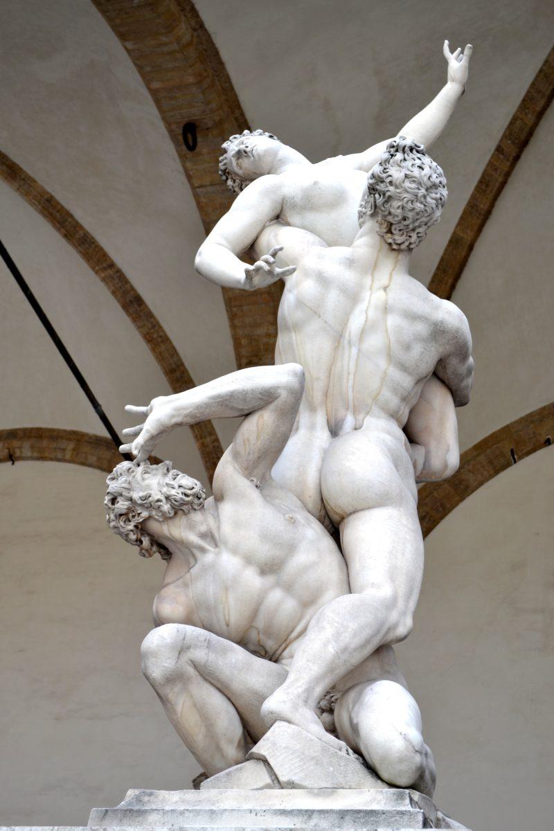 Sabijnse maagdenroof, Loggia dei Lanzi, Firenze