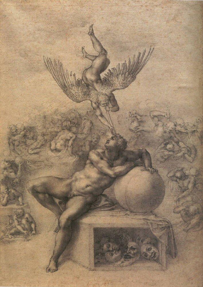 Michelangelo Buonarotti, De droom, ca. 1533