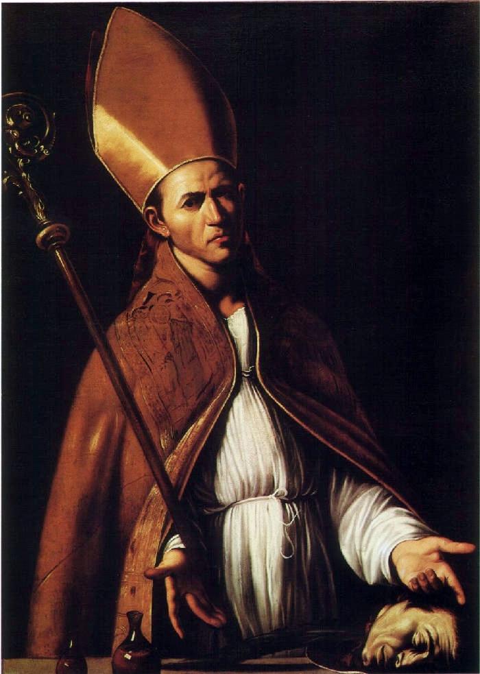 San Gennaro / Sint Januarius toont zijn relikwiën, Louis Finson, ca. 1611 - italieuitgelicht.nl