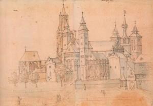 Het Vrijthof met de Sint Janskerk en de Sint-Servaasbasiliek- Remigio Cantagallina