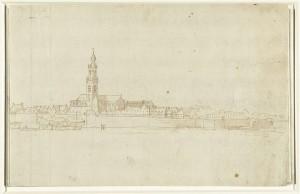 Panorama van Antwerpen, Remigio Cantagallina, Rijksmuseum Amsterdam