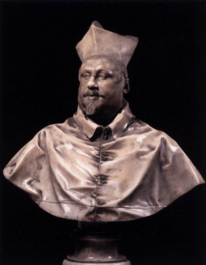 Gianlorenzo Bernini, Buste van Scipione Borghese - italieuitgelicht.nl