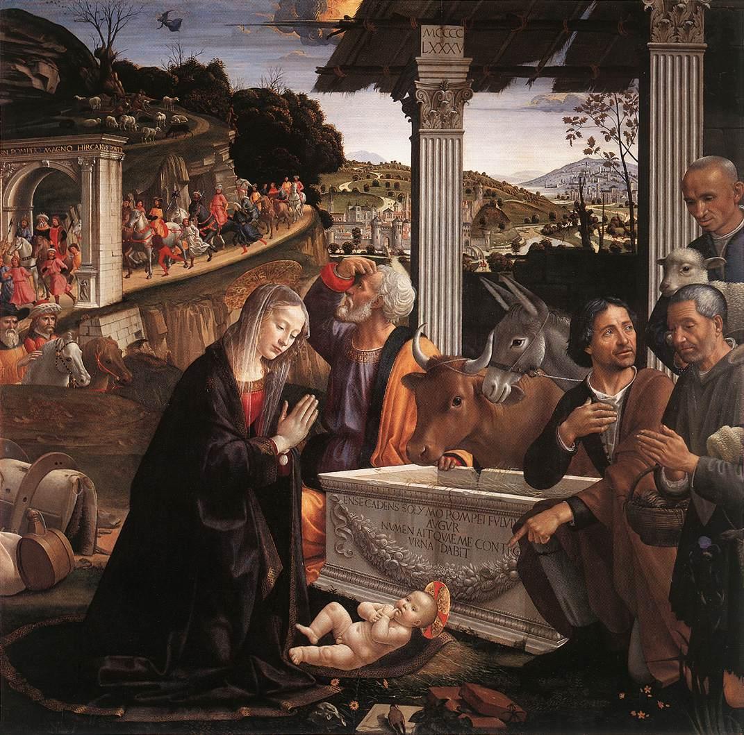 Aanbidding der herders, Domenico Ghirlandaio