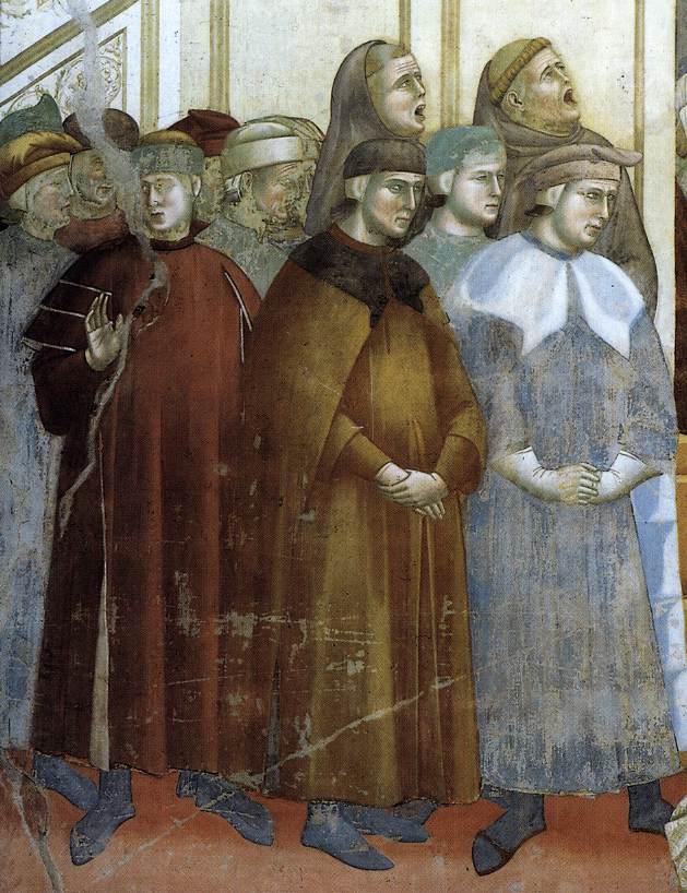 Giotto di Bandone, Legende van de Heilige Franciscus van Assisi, Institutie van de Kribbe in Greccio (detail)