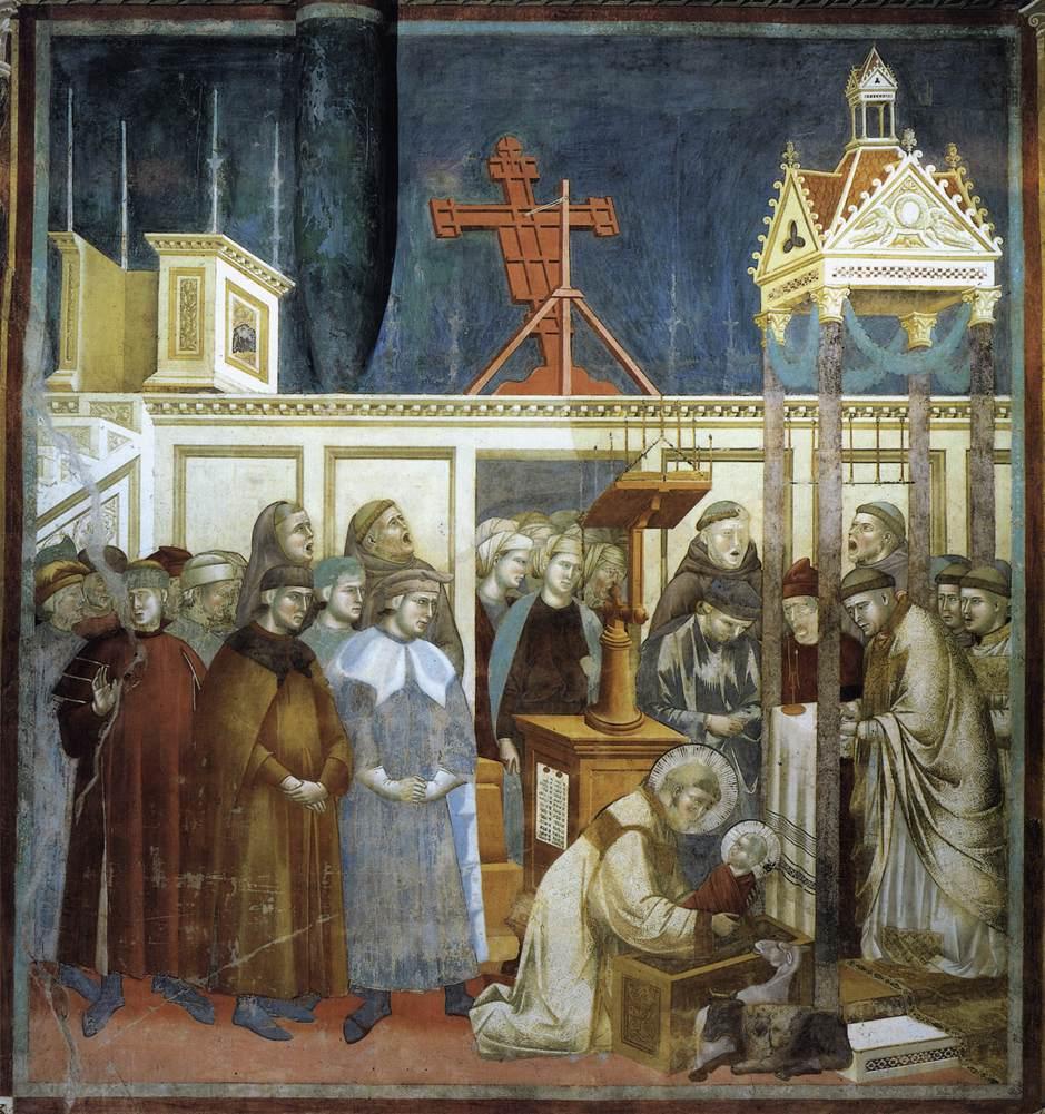 Giotto di Bandone, Legende van de Heilige Franciscus van Assisi, Institutie van de Kribbe in Greccio