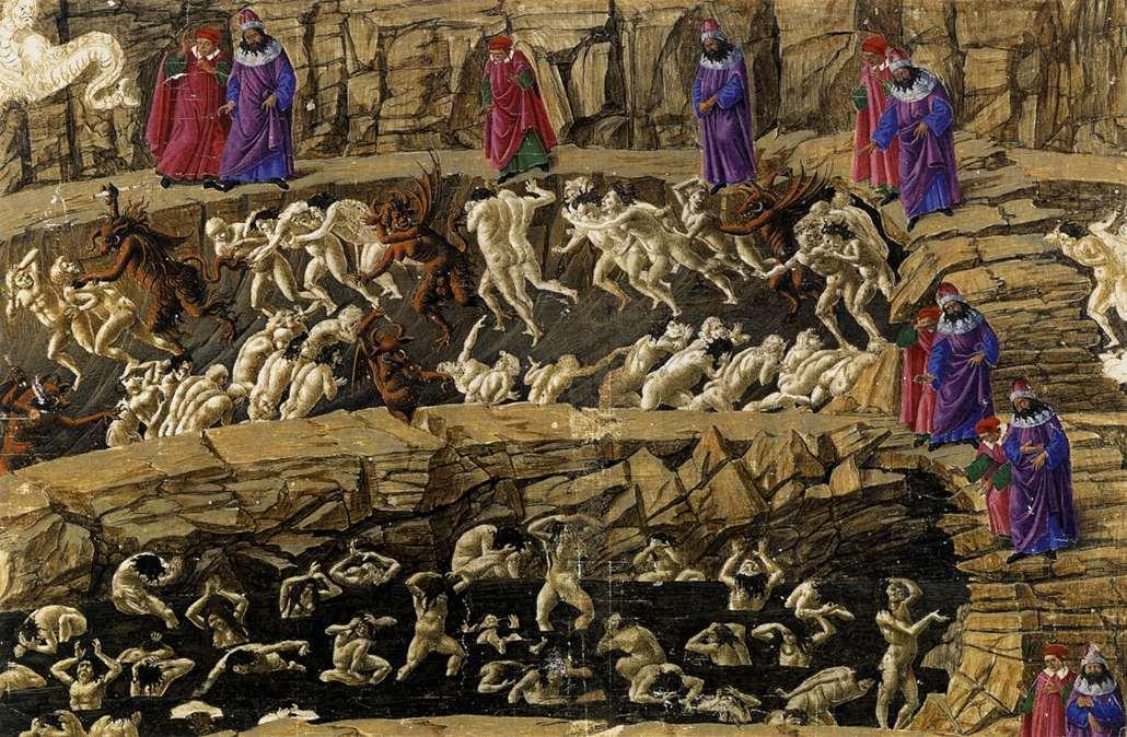 Botticelli, Hel canto XVIII