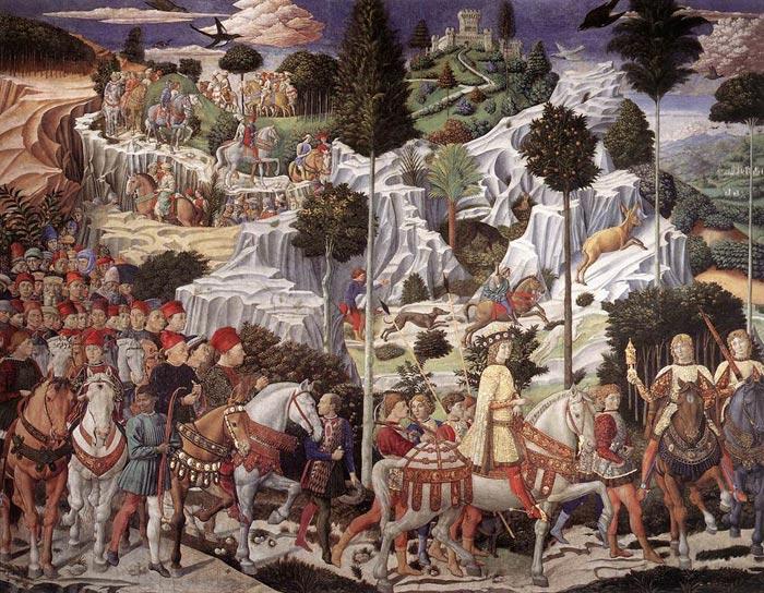Benozzo Gozzoli, De processie van de Santi Re Magi in Florence