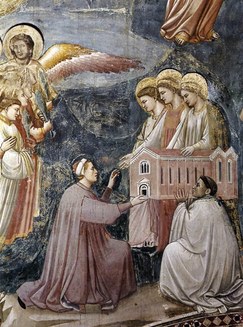 detail - enrico biedt de kapel aan