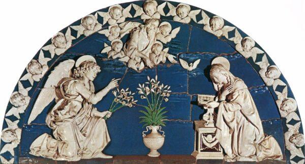 Annunciatie, Andrea della Robbia, c. 1493, Spedale degli Innocenti, Florence