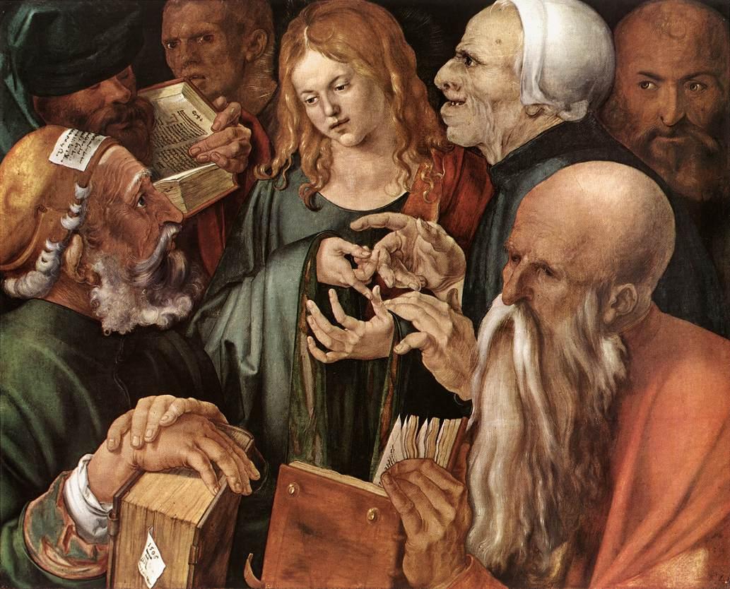 Christus omringd door de schriftgeleerden (1506),Museo Thyssen Bornemisza