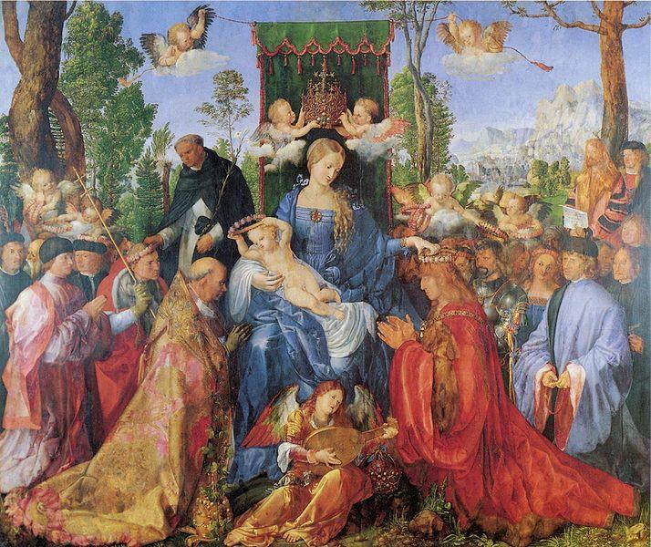 Het Rozenkransfeest, (1506) Národni Galerie in Praag