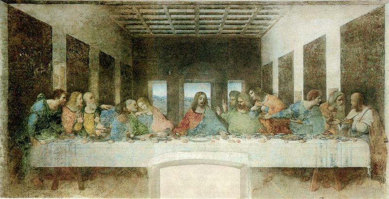 Laatste Avondmaal, Leonardo da Vinci, 1598