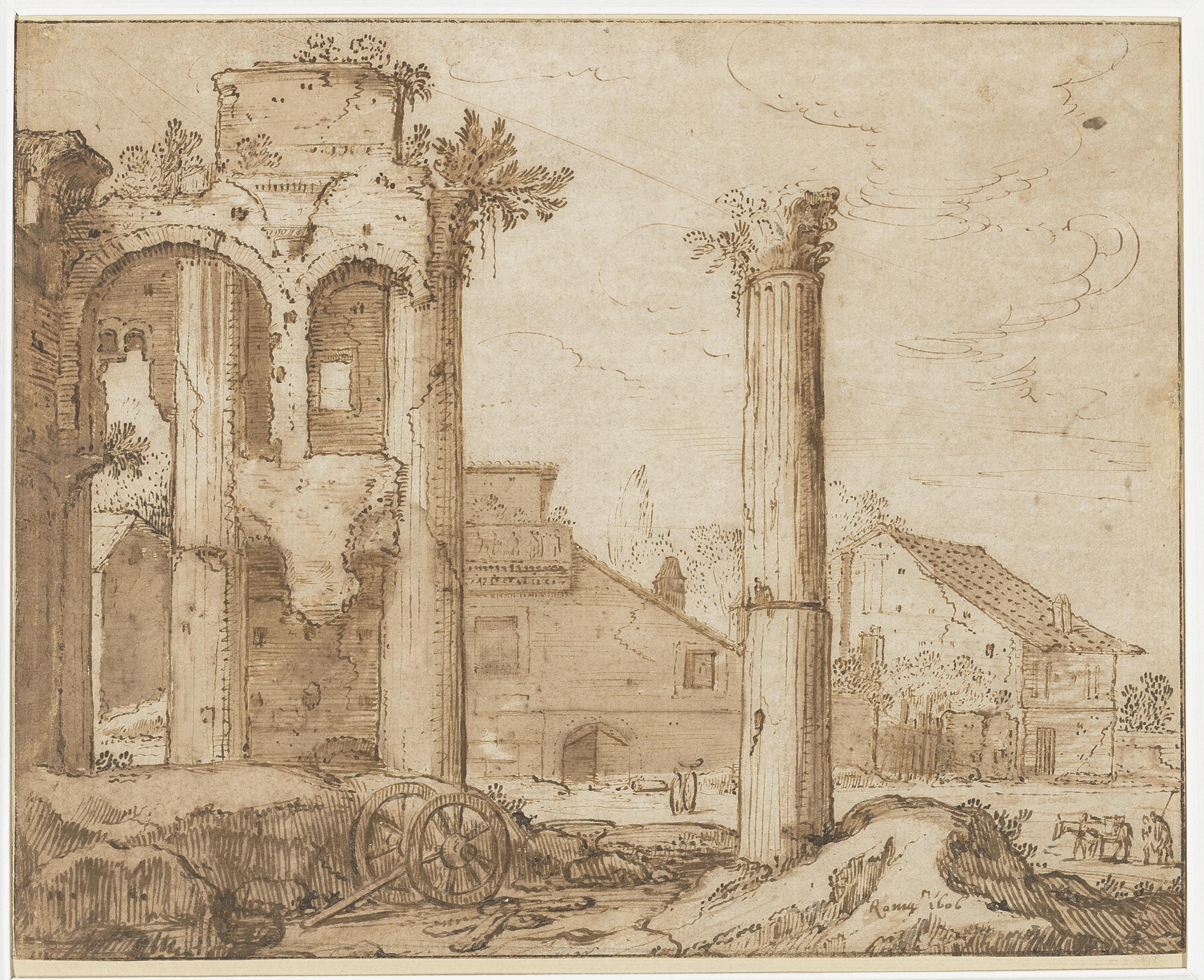 Pieter Lastman, De tempel van Minerva op het forum van Nerva, Amsterdam, Rijksmuseum