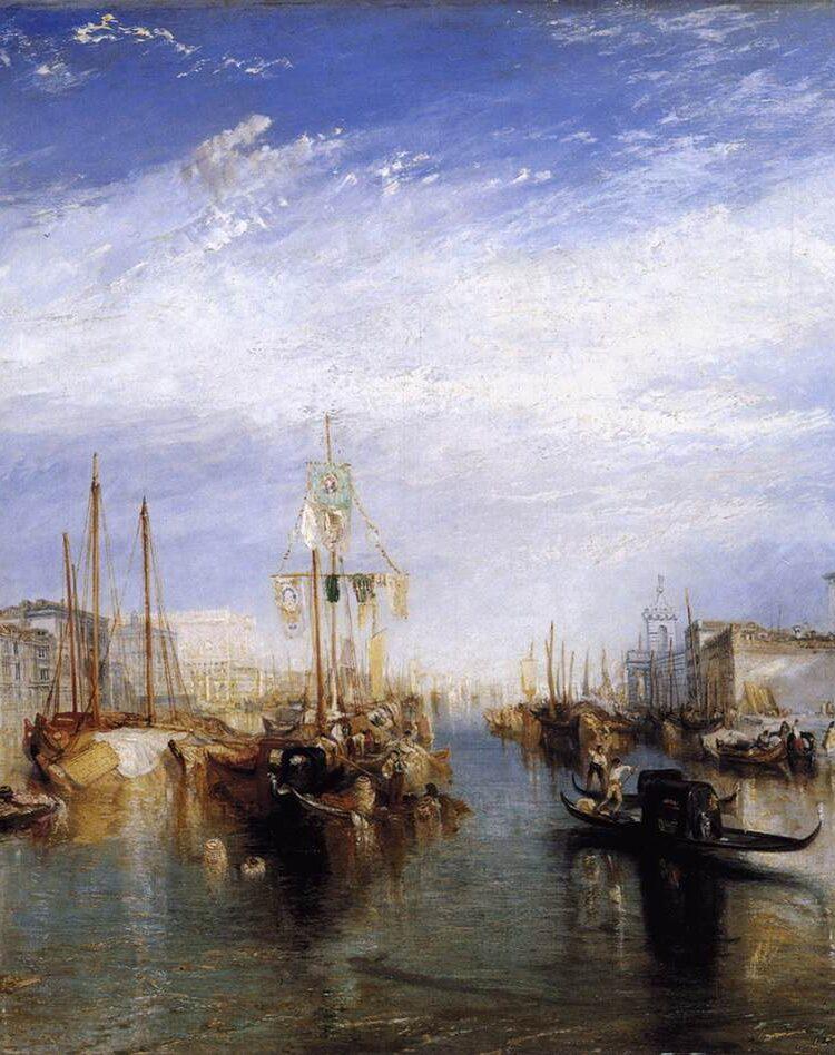 Joseph Mallord William Turner, Het Canal Grande in Venetië, 1835, Metropolitan Museum of Art, New York