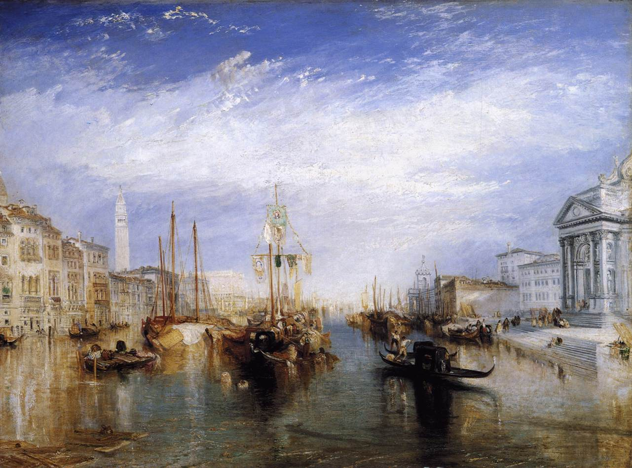 Joseph Mallord William Turner, Het Canal Grande in Venetië, 1835, Metropolitan Museum of Art, New York
