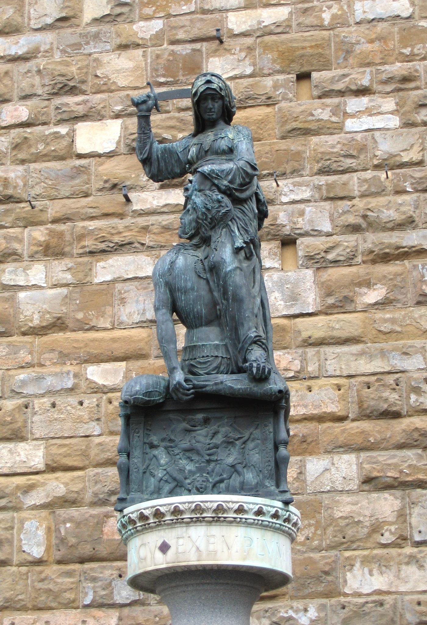 Judith- en Holofernes piazza della signoria wikipedia Italië Uitgelicht.jpg