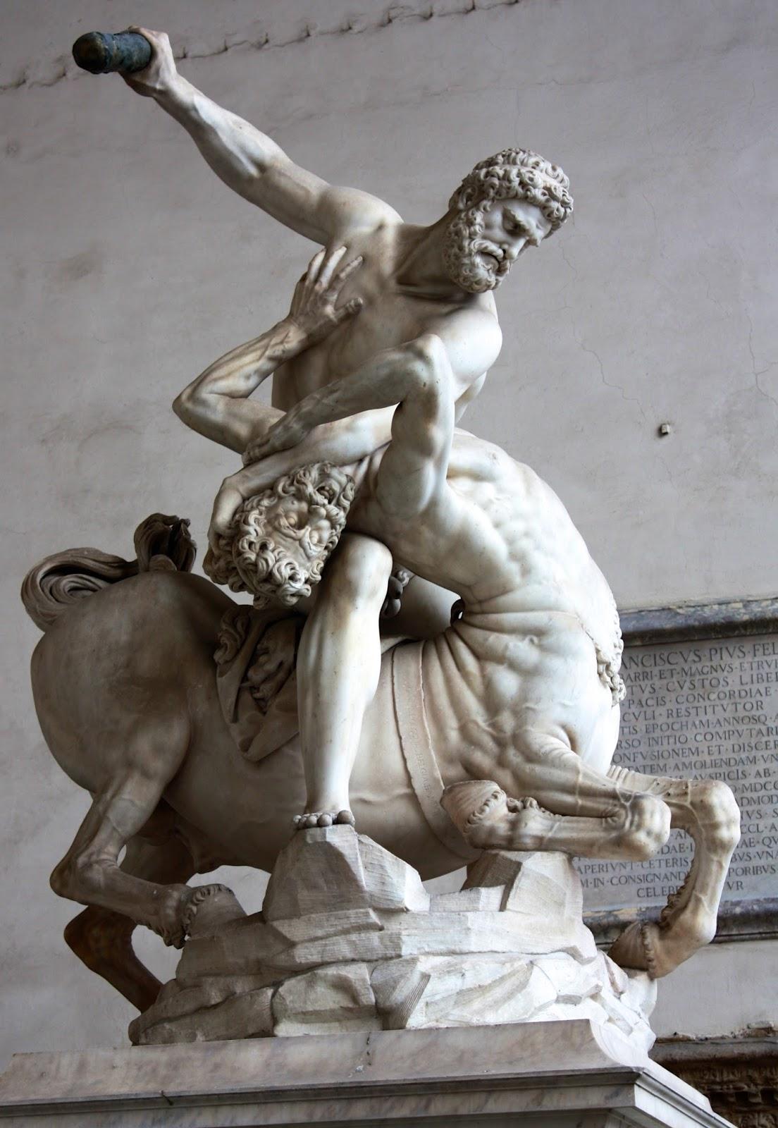 Piazza della Signoria, Hercules en de Centaur Nessus, Giambologna