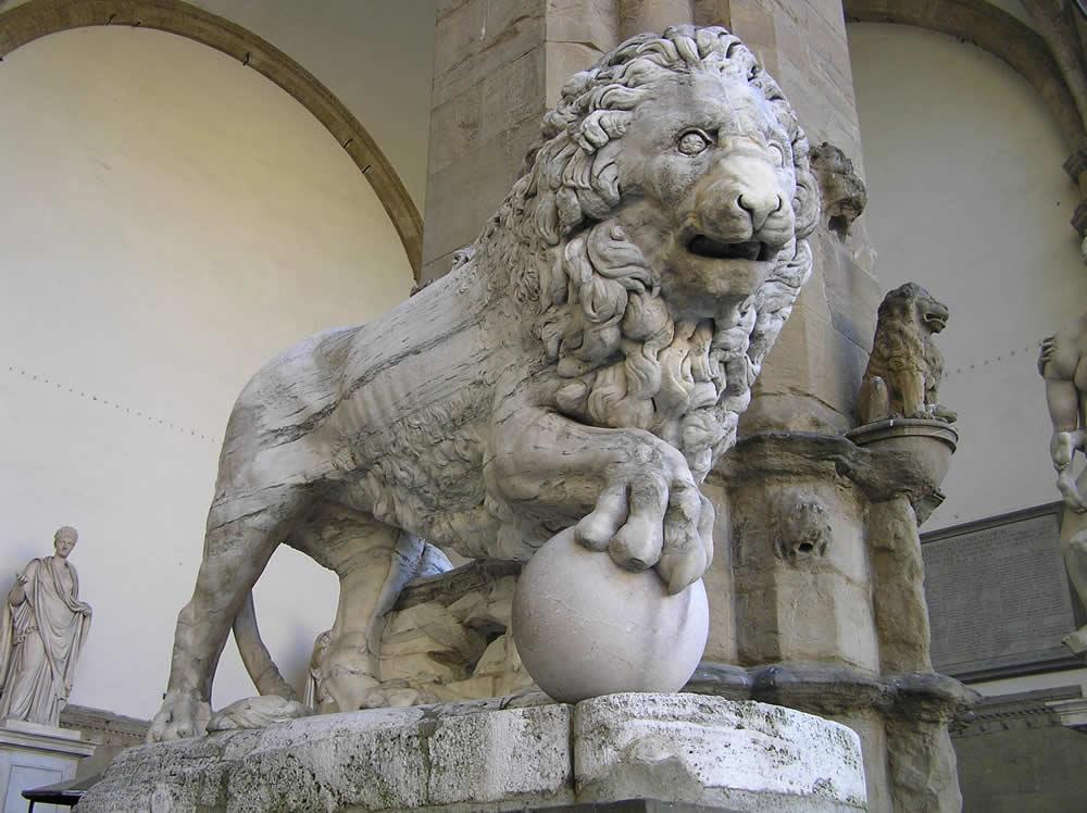 Loggia della Signoria, Loggia-dei-Lanzi, op het Piazza della Signoria Florence