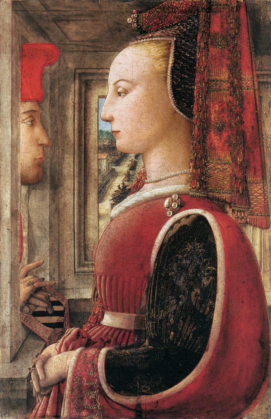 Filippo Lippi (Prato 1406 – Spoleto 1469), Portret van een vrouw en een man, tempera op paneel, The Metropolitan Museum of Art New York