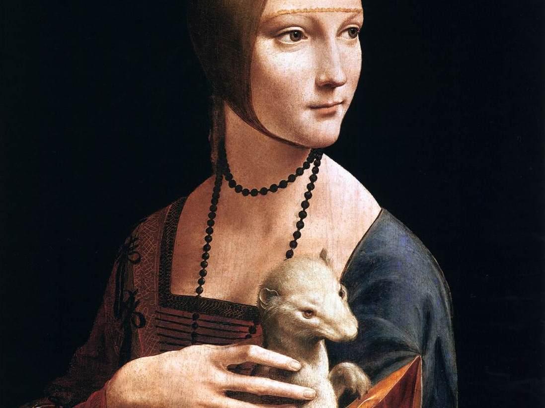Leonardo da Vinci, Dame met de hermelijn - italieuitgelicht.nl