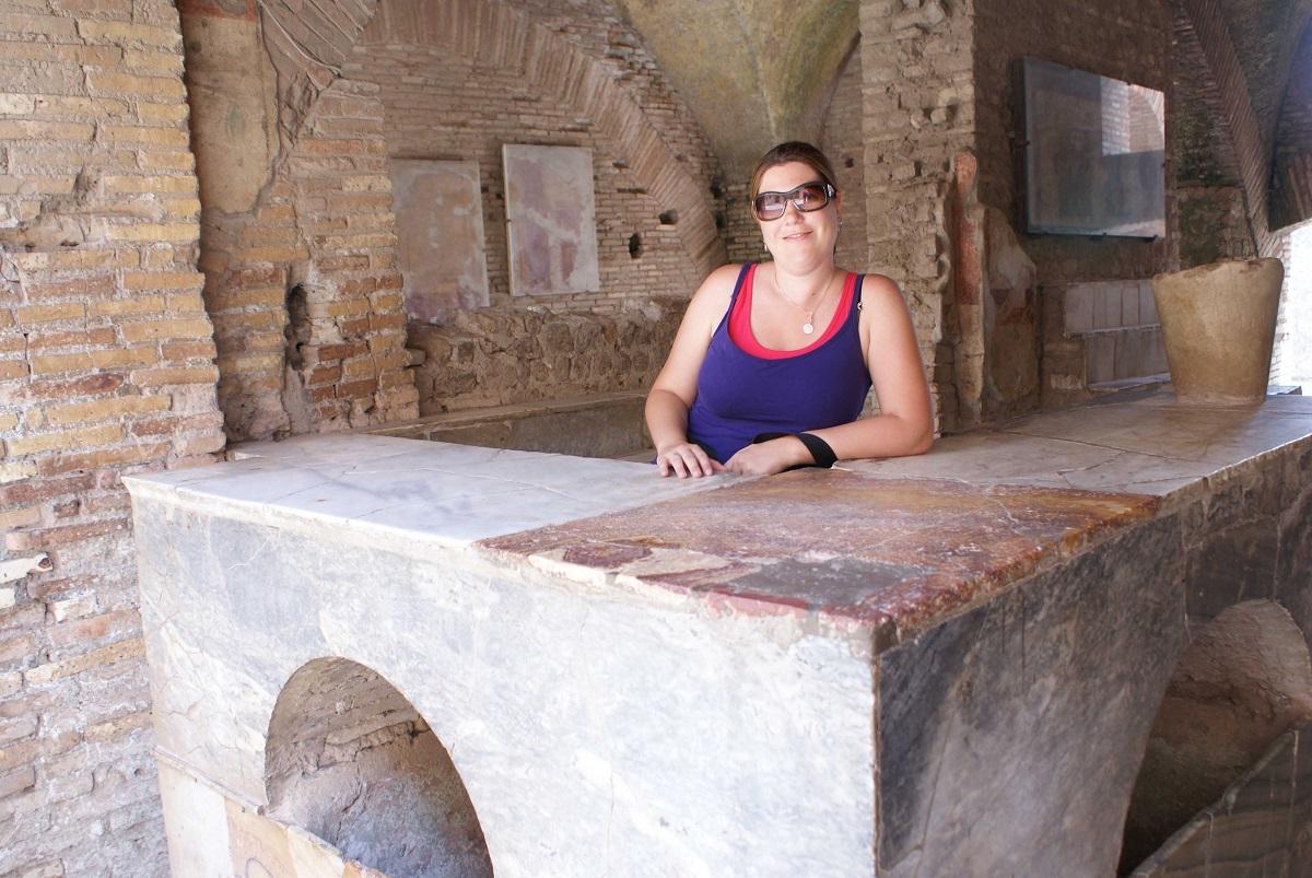 Gezin op Reis in Ostia Antica