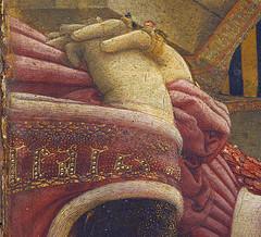 detail - Filippo Lippi, portret van een vrouw en een man, Metropolitan Museum of Art New York