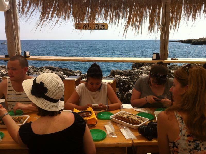 De lunch bij Lido Beija Flor. Foto © Puglia Promozione