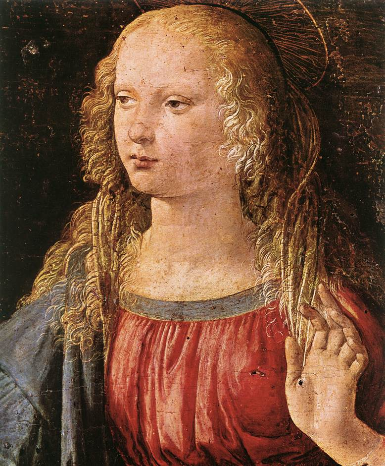 Leonardo da Vinci, Annunciatie, Uffizi Florence