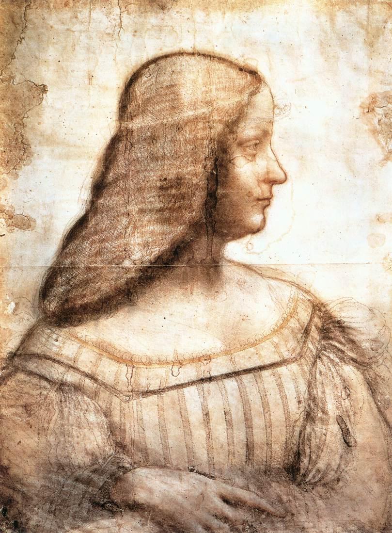 Leonardo da Vinci, portret van Isabel d'Este