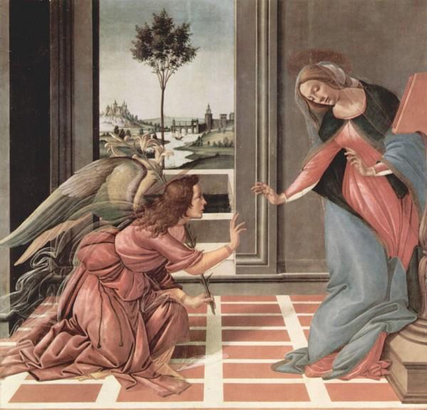 Sandro Botticelli's Annunciatie