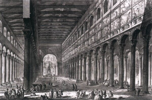 Groeten uit Rome Stadsgezichten van Piranesi San Paolo fuori le Mura Rome Teylers Museum