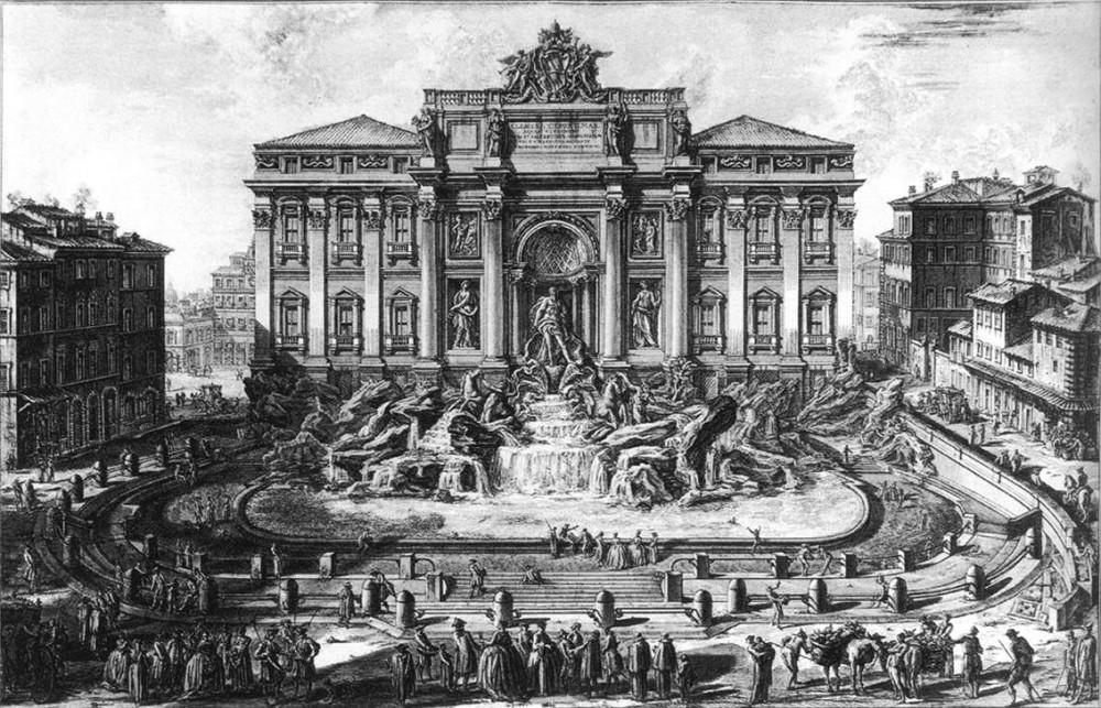 Trevi Fontein, Rome. Teylers Museum Haarlem