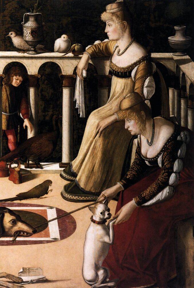 Vittore Carpaccio, Twee Venetiaanse Dames, 1510, Museo Correr, Venetië