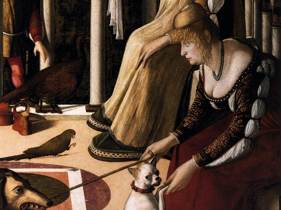 Carpaccio, Twee Venetiaanse dames, detail