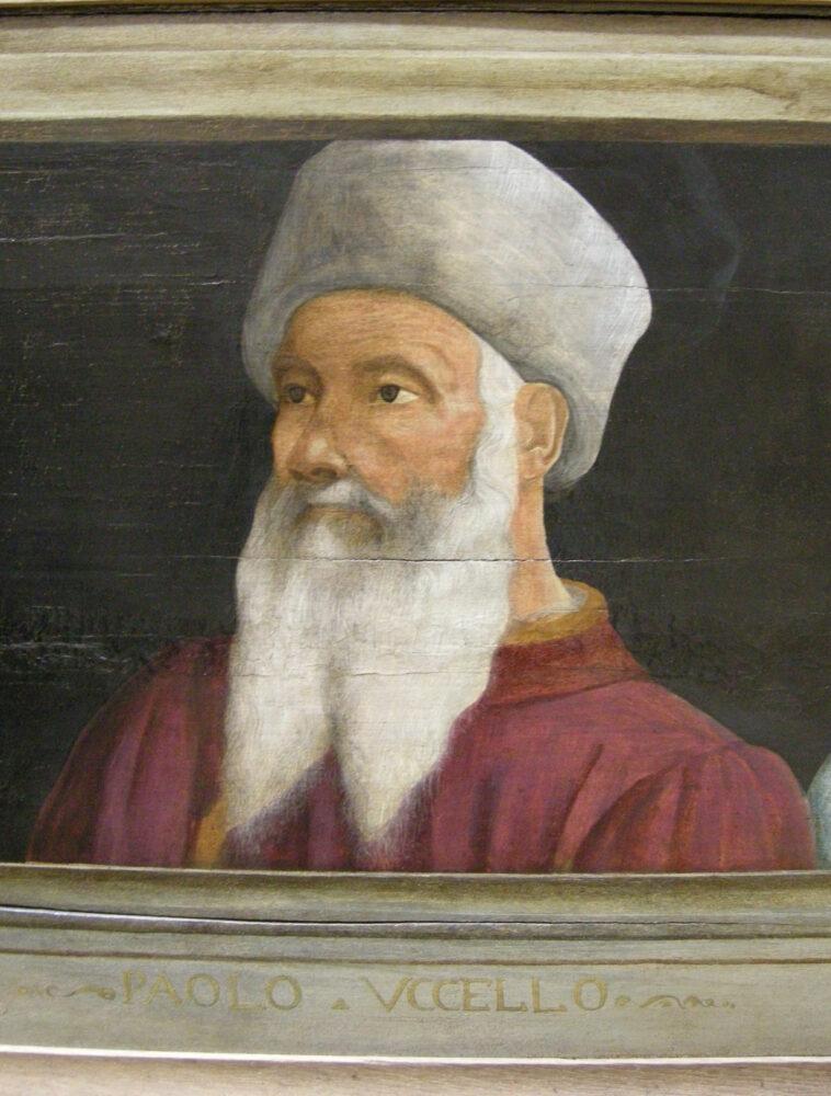 Portret van Paolo Uccello, Florentijnse School, Musée du Louvre Parijs