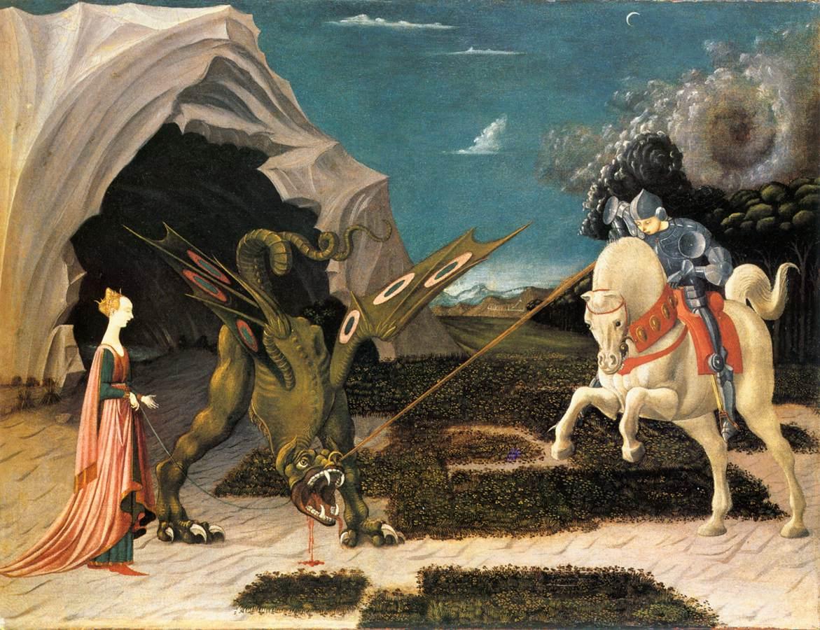 Sint Joris en de Draak, Uccello, National Gallery London