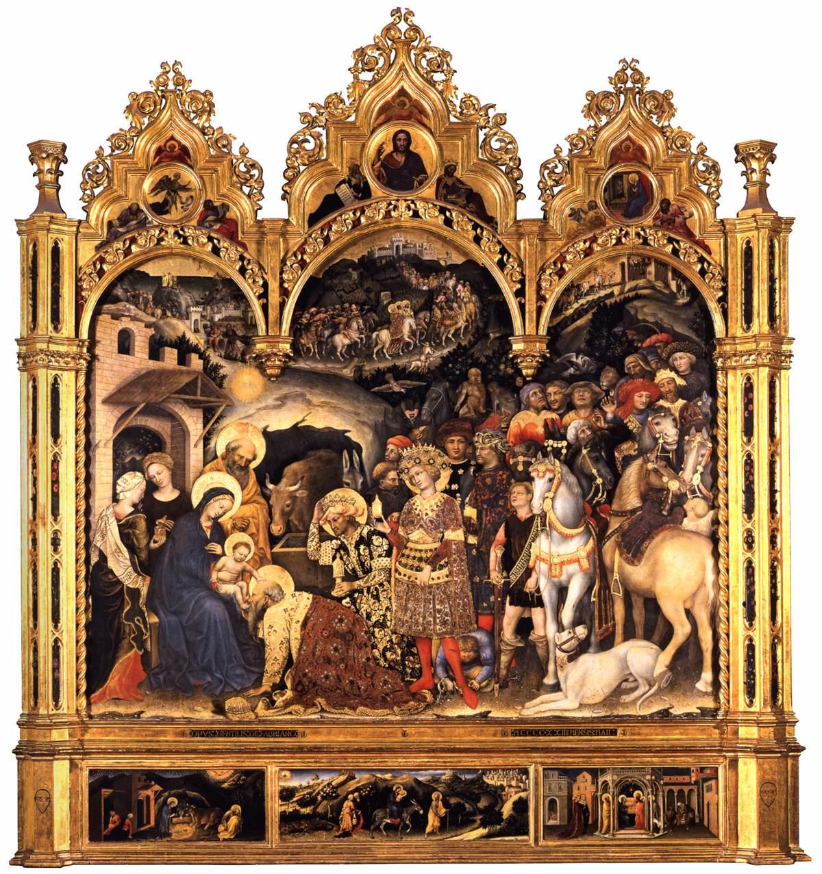 Gentile da Fabriano, Aanbidding der Wijzen, 1423, Galleria degli Uffizi, Florence