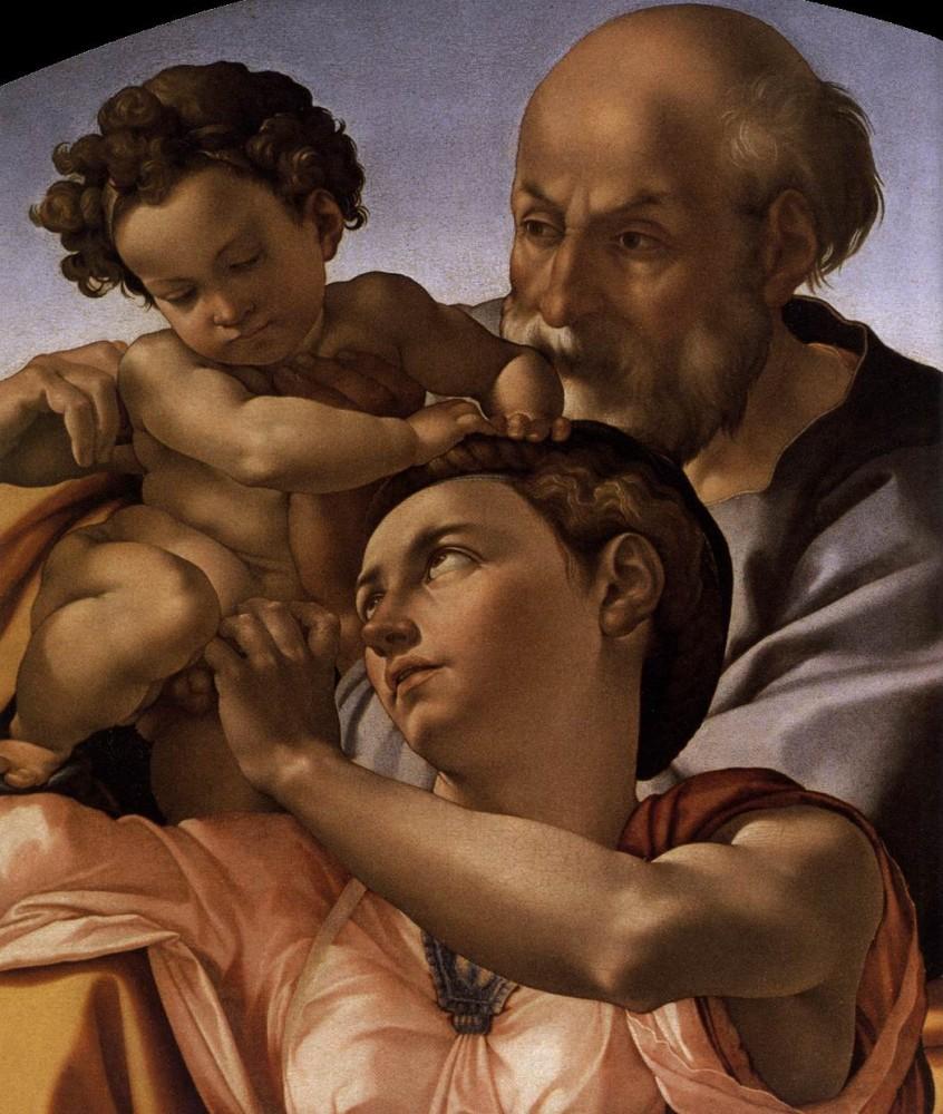 Michelangelo Buonarroti (1475-1564), Doni Tondo, c. 1506, Galleria degli Uffizi, Florence