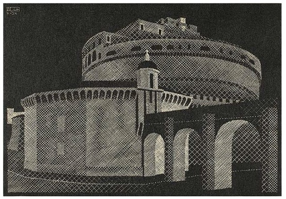 Escher, de Engelenburcht in Rome
