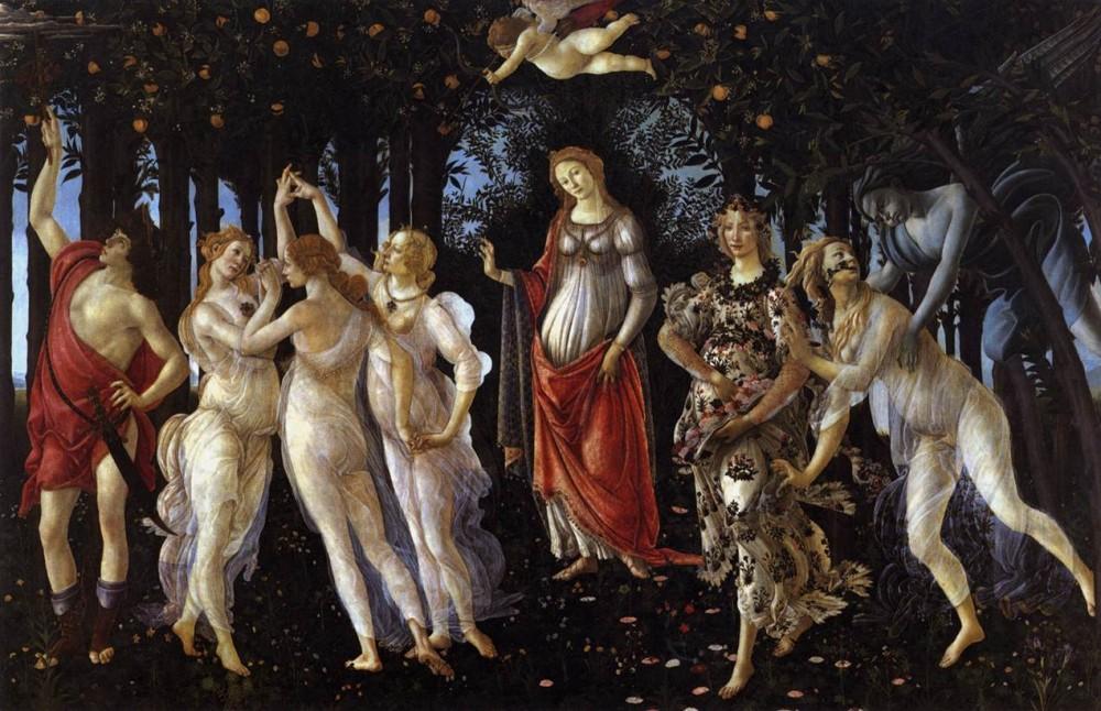La Primavera, Sandro Botticelli, Uffizi Florence