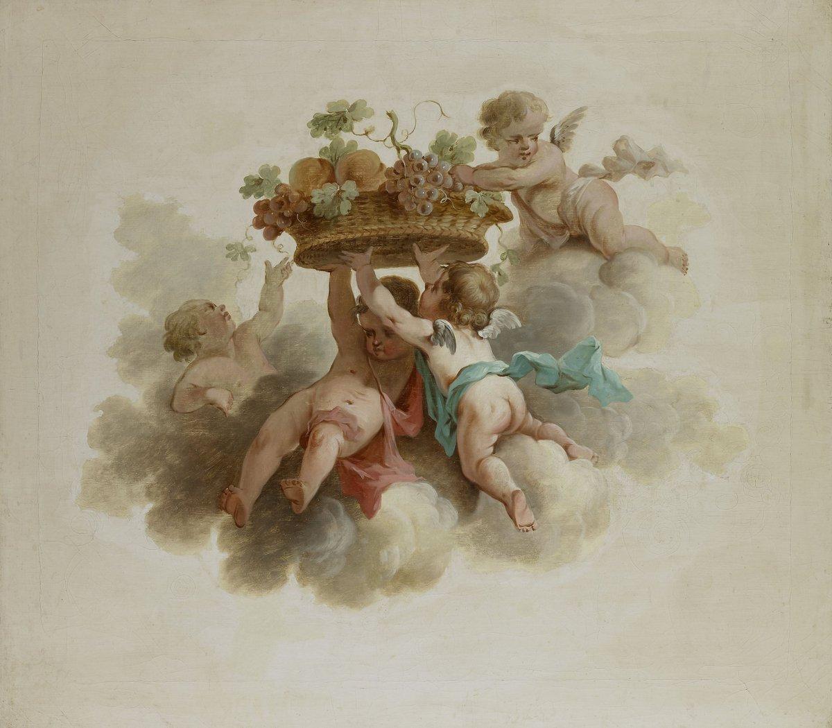 Rijksmuseum-onbekende-kunstenaar-vier-putti-in-de-wolken-vruchtenmand