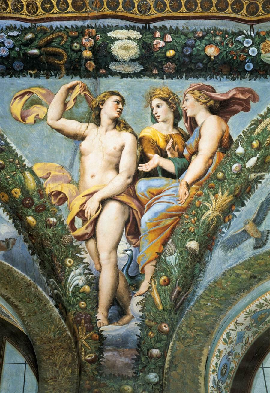 Rafael-De-Loggia-van-Psyche-Venus-Ceres-Juno-1517-18-Villa-Farnesina-Rome