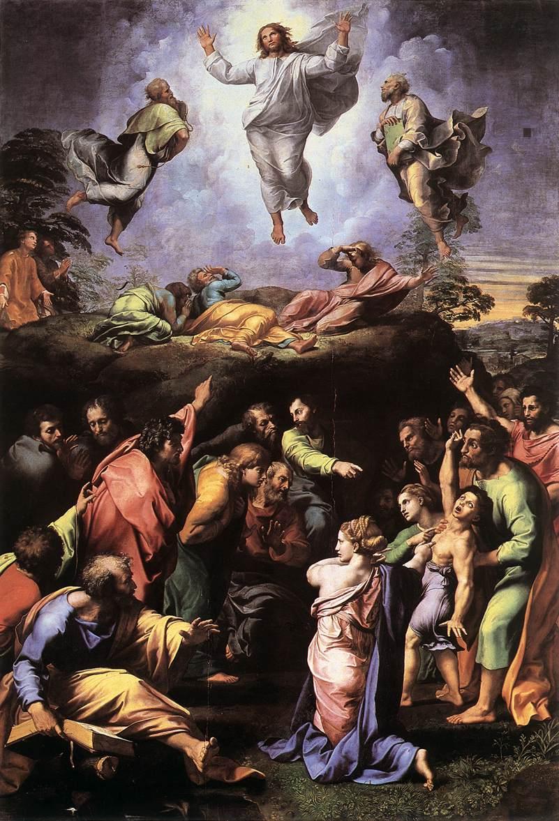 Rafael, De Transfiguratie, 1518-20, Pinacoteca, Vaticaan