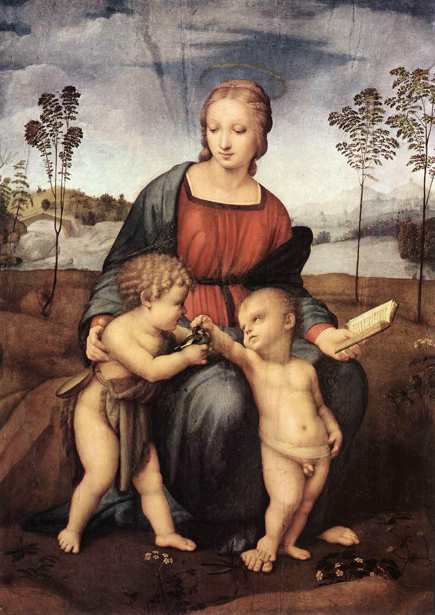 Rafael, Madonna del Cardellino, 1507, Galleria degli Uffizi, Florence