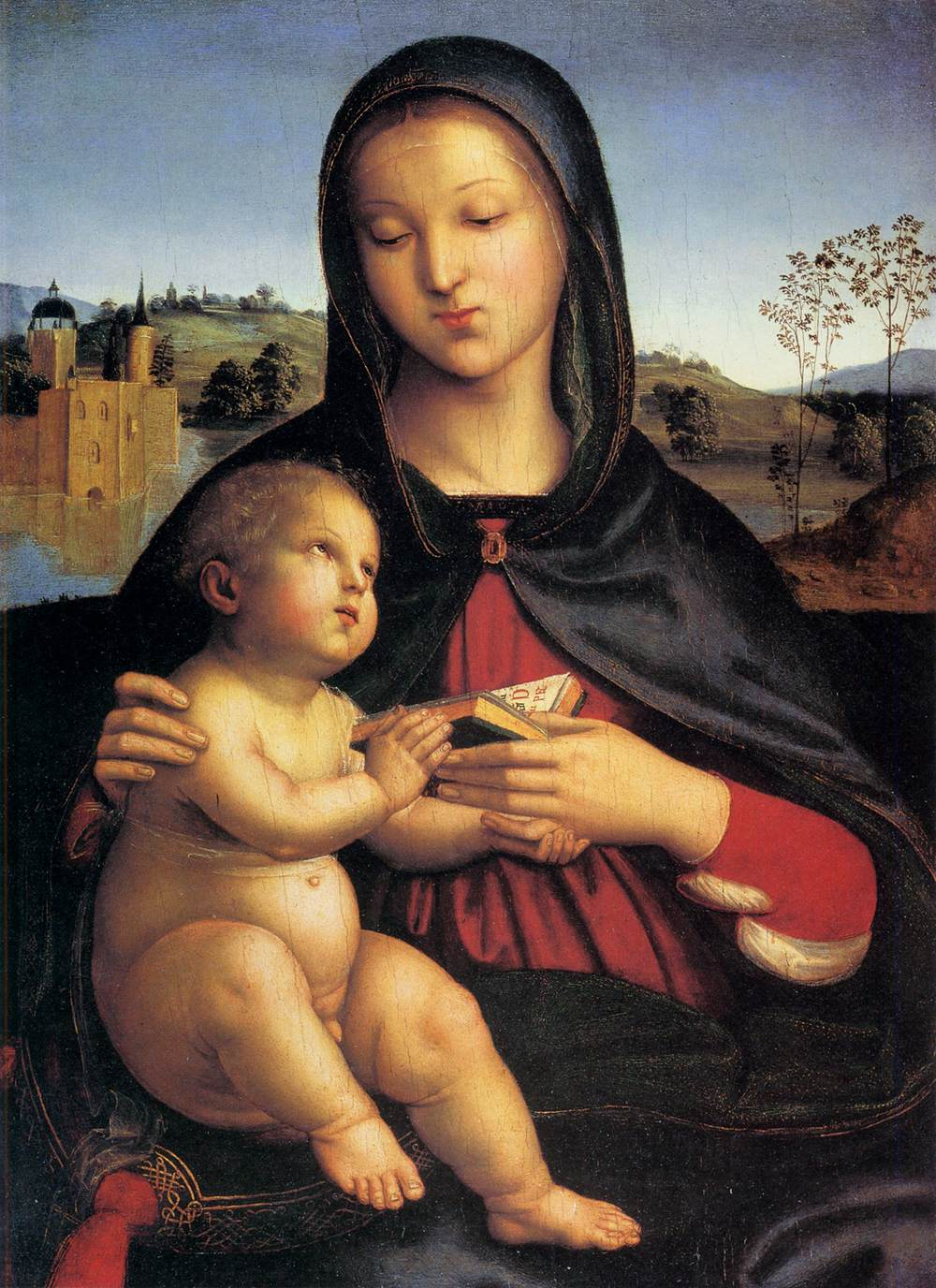 Rafael, Madonna met kind, c. 1503, Norton Simon Museum of Art, Pasadena